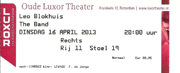 Ticket Oude Luxor Theater